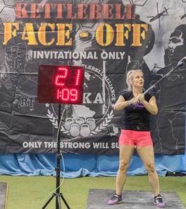 Jess Huttig Hartford Connecticut Area Known as The Viking Princess, Jess is an avid Kettlebell Sport Competitor and the current reigning Womens Vintage Strength Mace Event Champion with 4 Wins! She is a certified Club and Mace Instructor.